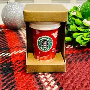 NWT! Starbucks Red Cup Ornament 2008